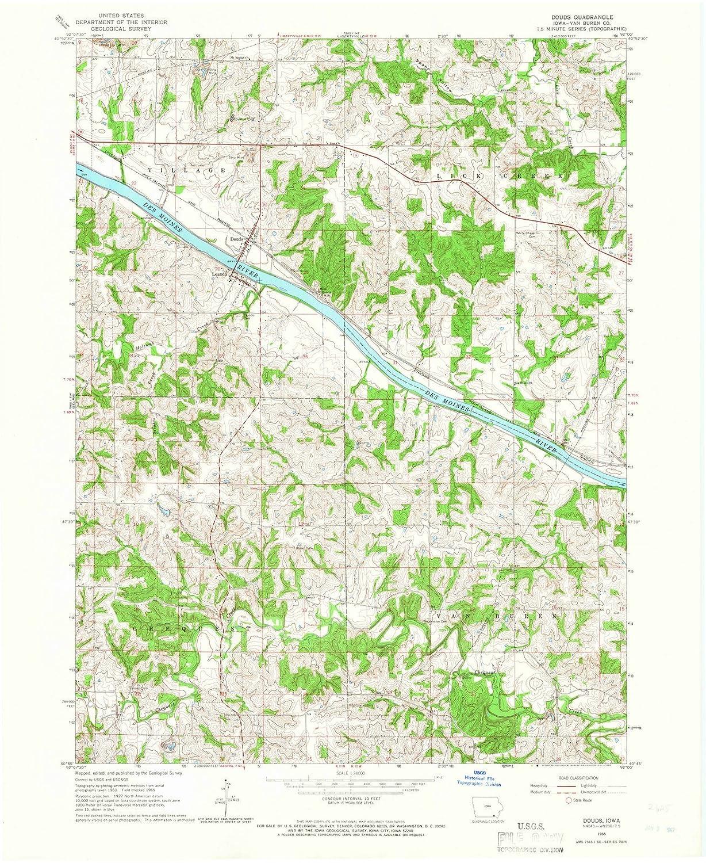Amazon Com Iowa Maps 1965 Douds Ia Usgs Historical Topographic