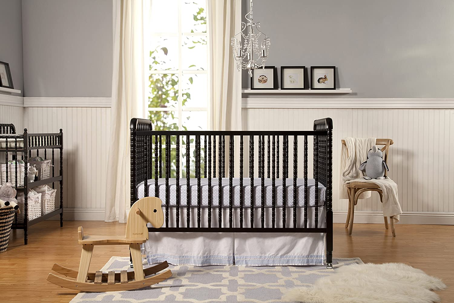Contemporary white wooden jenny lind crib for your baby to sleep - Amazon Com Davnci Jenny Lind 3 In 1 Convertable Crib Ebony Million Dollar Baby Davinci Jenny Lind Crib Baby