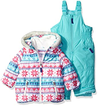 2c88798ce95 Carter's Baby Girls 2-Piece Heavyweight Printed Snowsuit, Fair Isle  Snowflake, ...
