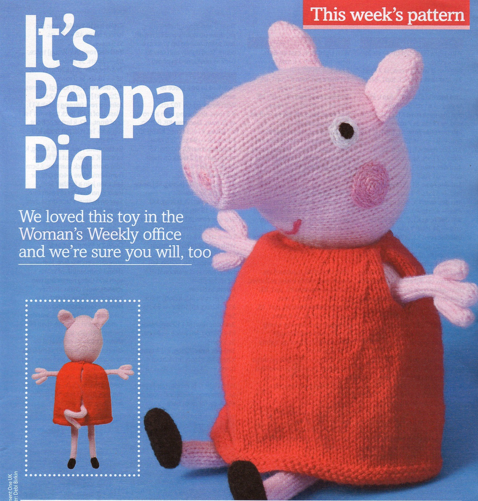 It\'s Peppa Pig Toy Knitting Pattern: Measurements approximately ...