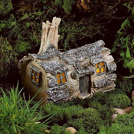Magical Fairy Garden Tree House Decoration Metal Outdoor Garden Patio Ornament