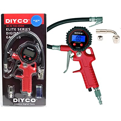 DIYCO D2 Digital Tire Inflator with Pressure Gauge - Trigger Grip Style - 200 PSI: Automotive [5Bkhe1511981]