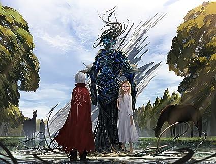 Athah Designs Anime Original Girl Creature Boy Smile Blonde White Hair Long Short Horse