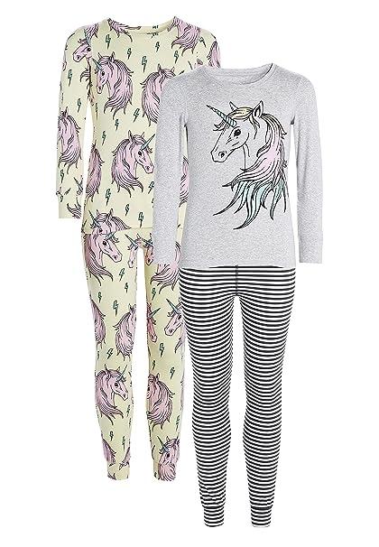 next Niñas Pack De Dos Pijamas Cómodos con Estampado De Unicornio (3-16 Años