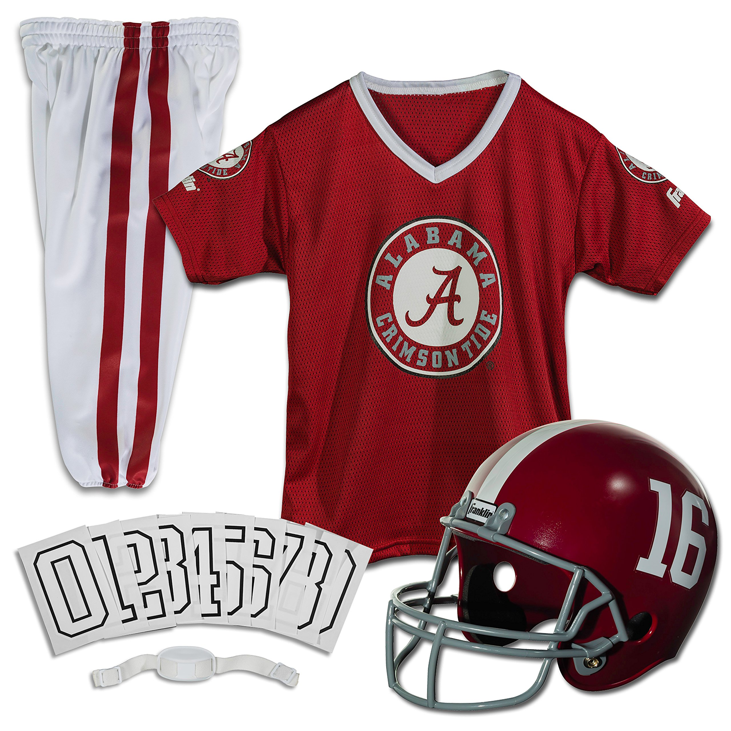 Franklin Sports NCAA Alabama Crimson Tide Deluxe Youth Team Uniform Set, Small