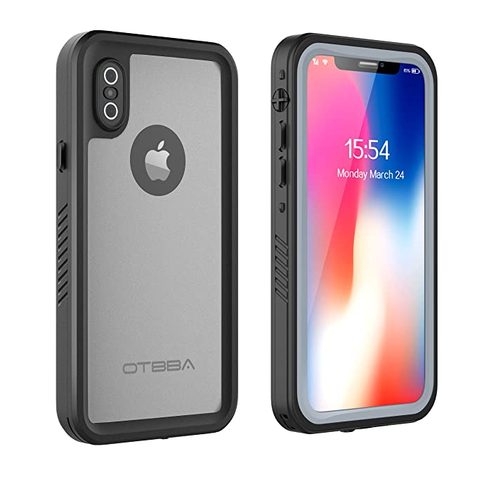 best website a5e62 ee981 OTBBA iPhone X/iPhone Xs Waterproof Case, Full Sealed IP68 Certified  Snowproof Dustproof Shockproof Heavy Duty Protection Underwater Case for  iPhone ...
