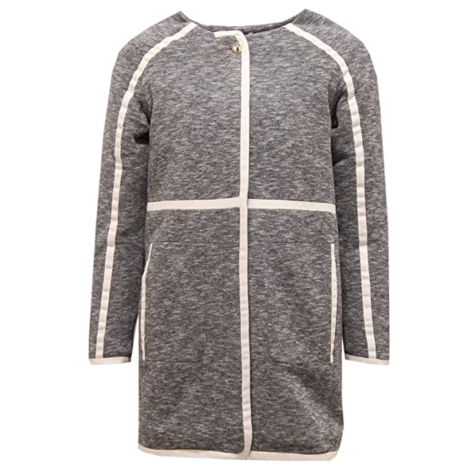 new arrival bff3c f950f 6858T Giacca Bimba Girl Chloe' Cappotto Grey Orsetto Jacket ...