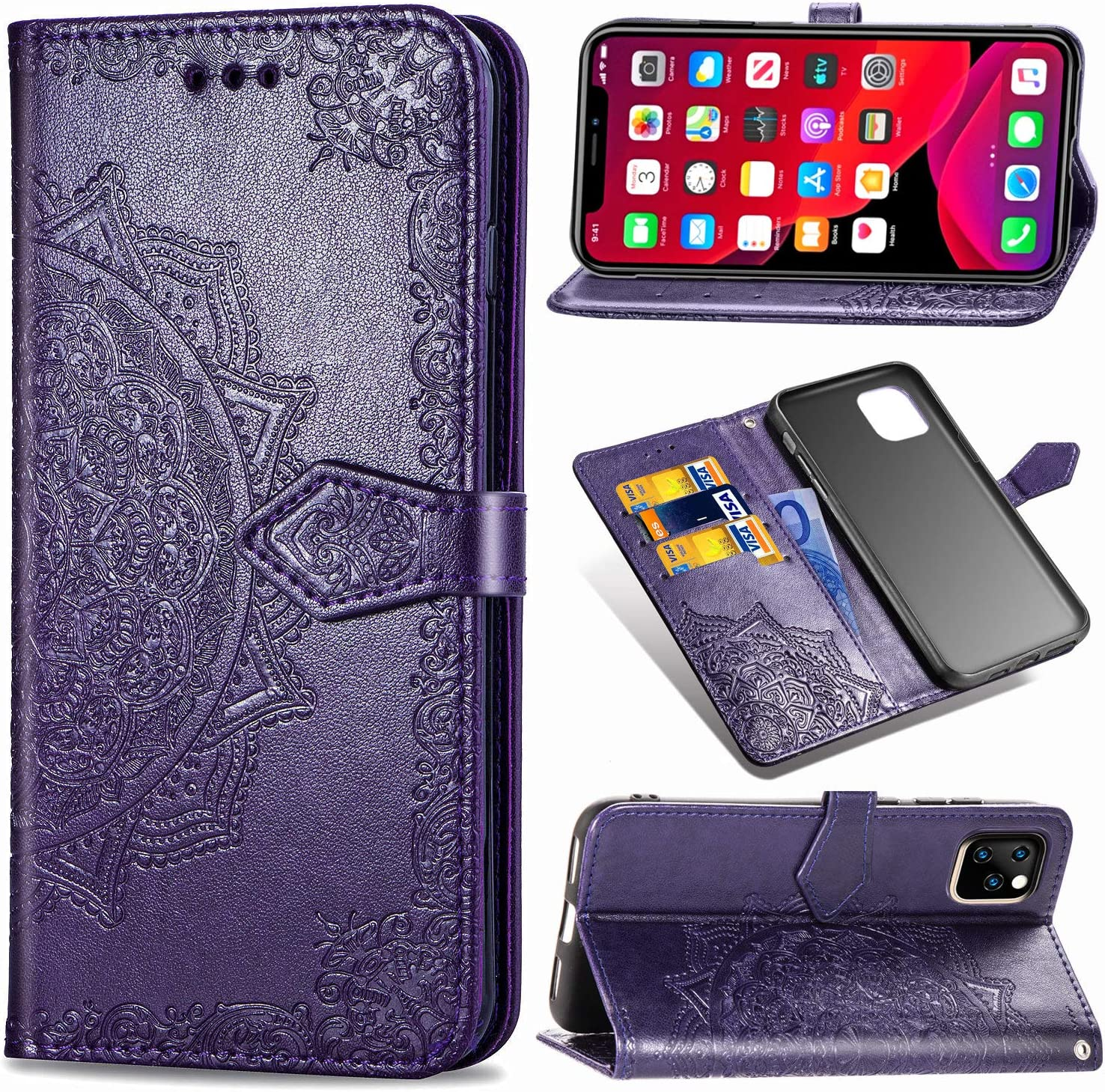 Wallet Case Compatible with iPhone 11 PRO MAX Case Cover 6.5