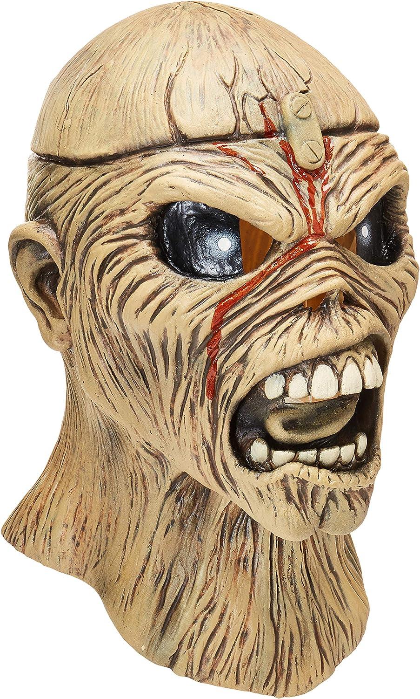 Metal Head Mask Eddie Iron Maiden Zombie Scary Halloween Adult Costume Accessory