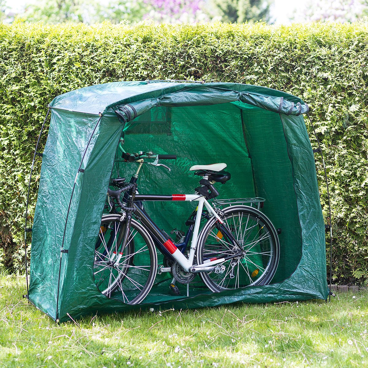 Relaxdays Bicycle Cover Bike Garage Shelter Tent 156.5 x 84.5 x 181.5 cm with Transport Bag u0026 Securing Pegs Bike Garage for C&ing or Trips or the Garden ... & Relaxdays Bicycle Cover Bike Garage Shelter Tent 156.5 x 84.5 x ...