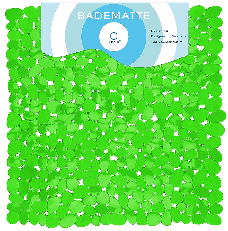 Circulation Tappetino Antiscivolo Per Vasca Da Bagno/Doccia 53x 53cm Verde Effetto Pietra Moderno