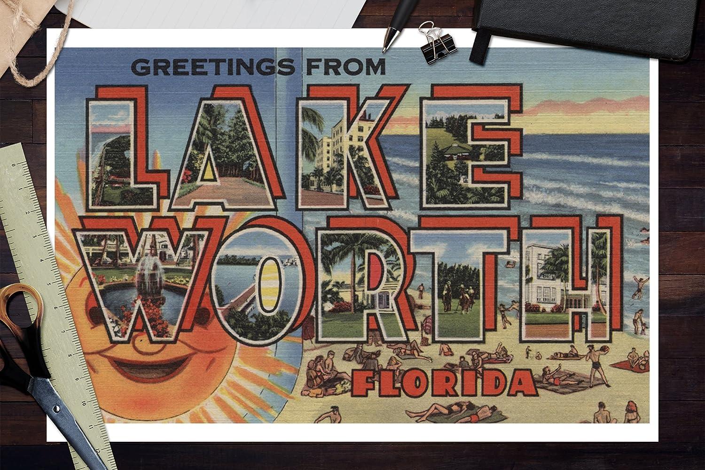 Large Letter Scenes 8602 Florida 24x36 SIGNED Print Master Art Print - Wall Decor Poster Miami