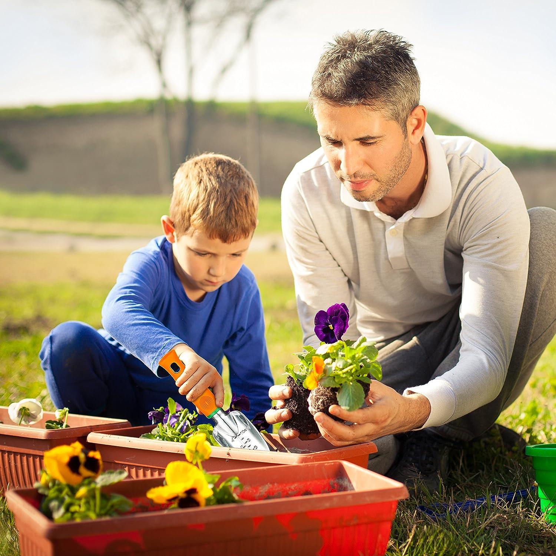 UKOKE Garden Tool Set, 12 Piece Aluminum Hand Tool Kit, Garden Canvas Apron with Storage Pocket, Outdoor Tool, Heavy Duty Gardening Work Set with Ergonomic Handle, Gardening Tools for women men : Garden & Outdoor