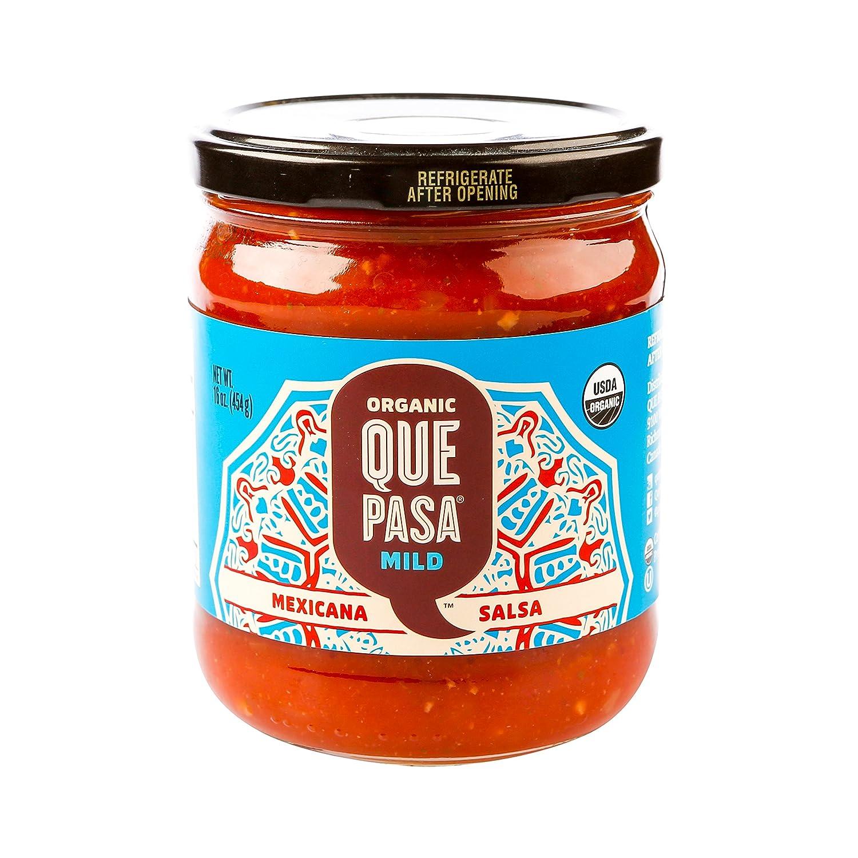 Amazon.com: Que Pasa Organic Mild Mexicana Salsa, 16 Ounce - 12 per case.