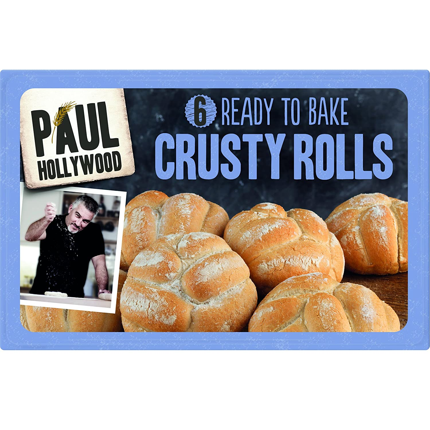 Paul Hollywood 6 Ready To Bake White Crusty Rolls Amazoncouk