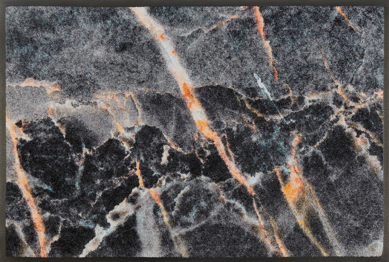 Wash+dry Matte, Polyamide, Schwarz, 75 x 120 cm