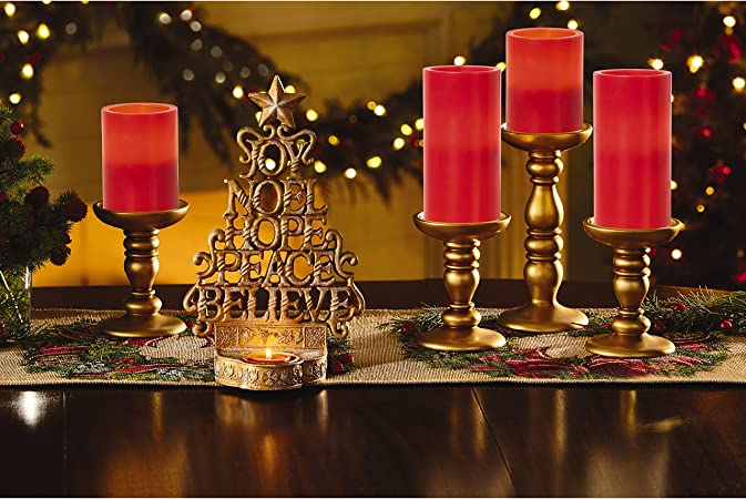 Precious Moments Red 6-Inch Tall Flameless Wax Pillar Candle 171401 Precious Moments Company Inc.