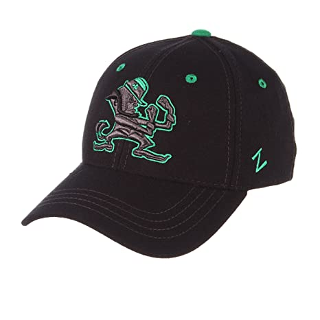 586aad8fded Zephyr Notre Dame Fighting Irish Official NCAA Black Element Large Hat Cap  by 444559