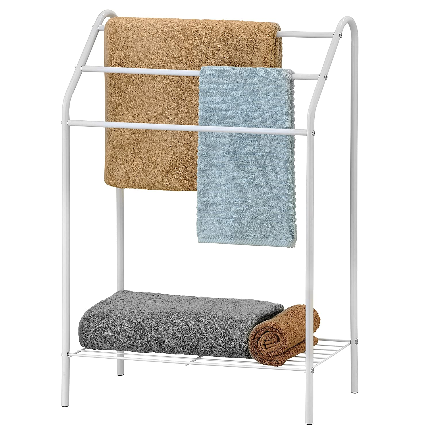 Amazon.com: Freestanding 3 Tier Metal Towel Rack, Chrome Bathroom ...