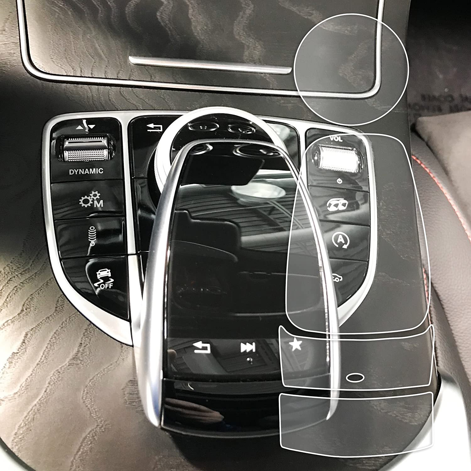 Red Hound Auto 2 fits Touchpad Controller with Scroll Wheel Compatible with Mercedes-Benz COMAND C/GLC/GLE/S Class Sedans Coupes and SUVS Screen Saver 4pc Each High Clarity Pad Protector
