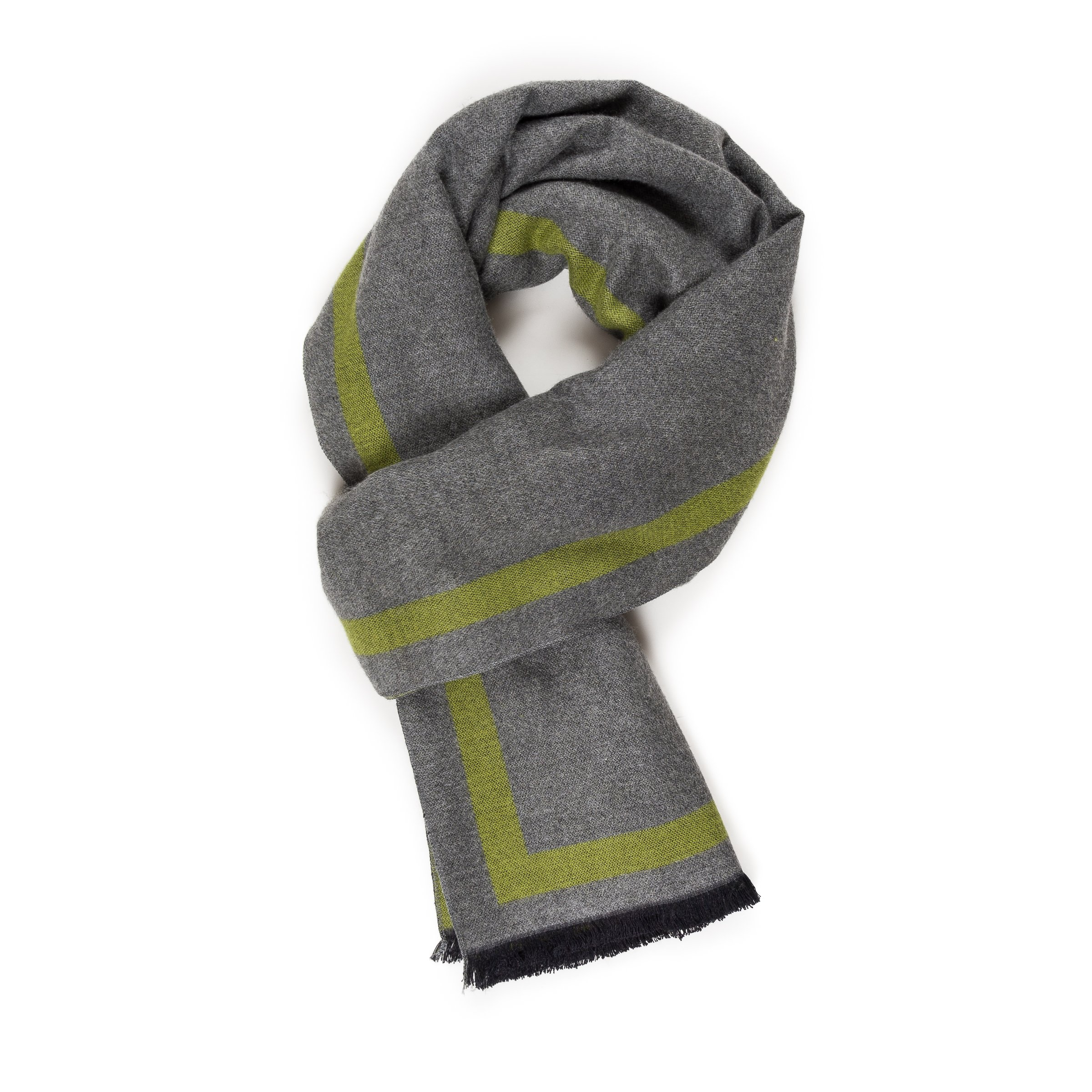 Scarf for Men Spring Winter Cashmere Gray Green Man Soft Elegant Classic Scarves by Melifluos (Gray Green) by MELIFLUOS DESIGNED IN SPAIN