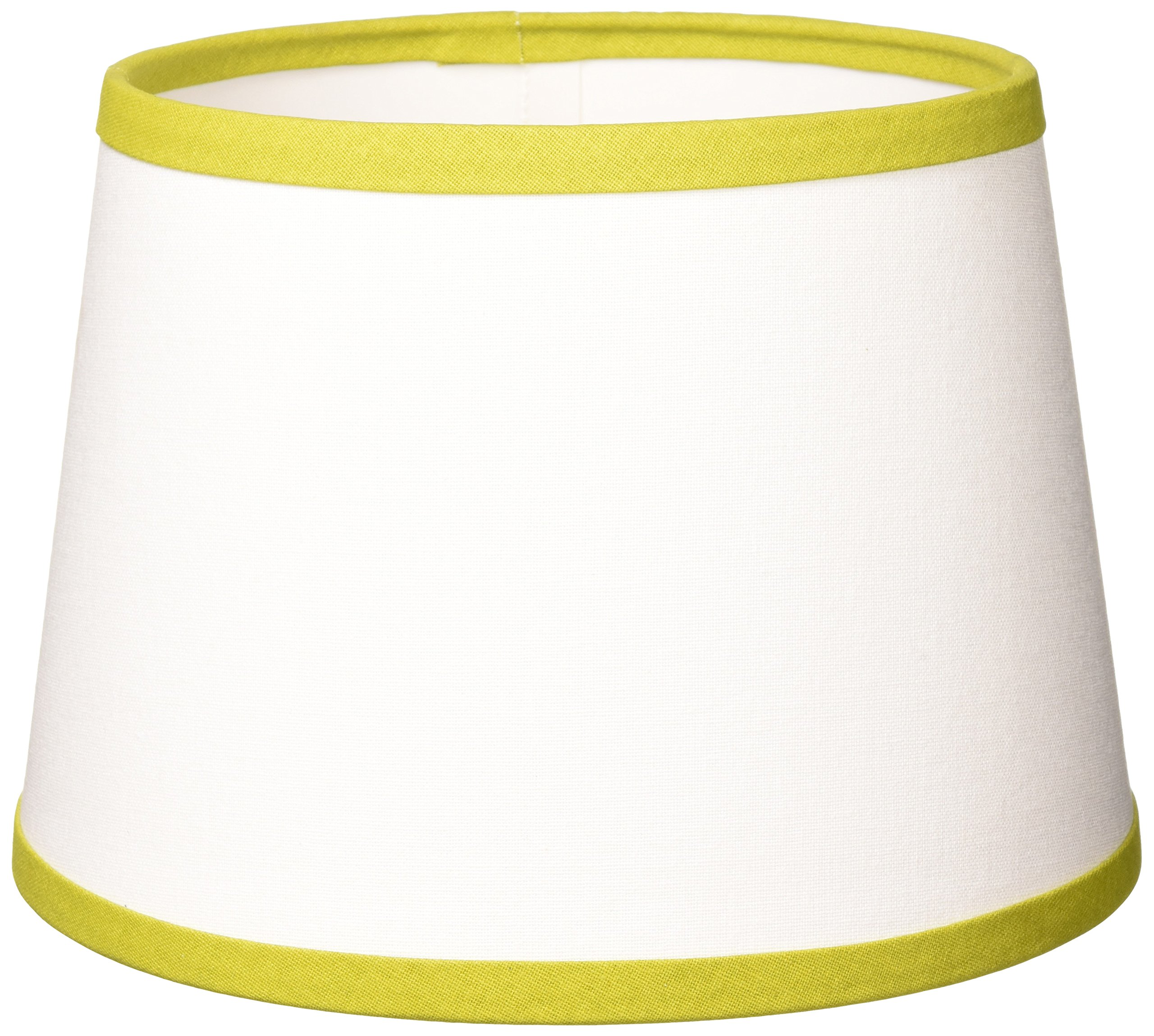 Home Collection by Raghu 0D157057 Lime & White Trim Regular Clip Drum Lampshade, 10''