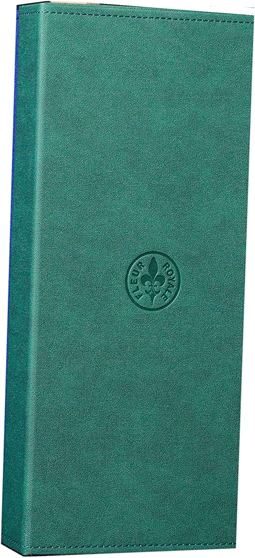 robust /& edel schwarzblau Fleur Royale Mehrbrillenetui Brillenetui Sixpack washed linen f/ür 6 Brillen 366x176x51 mm