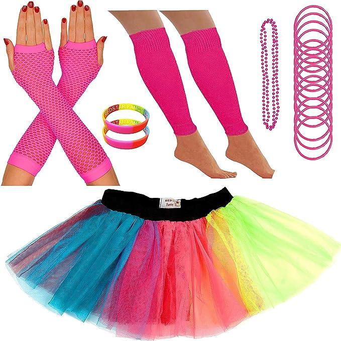 Kit de accesorios para disfraz neón tutú