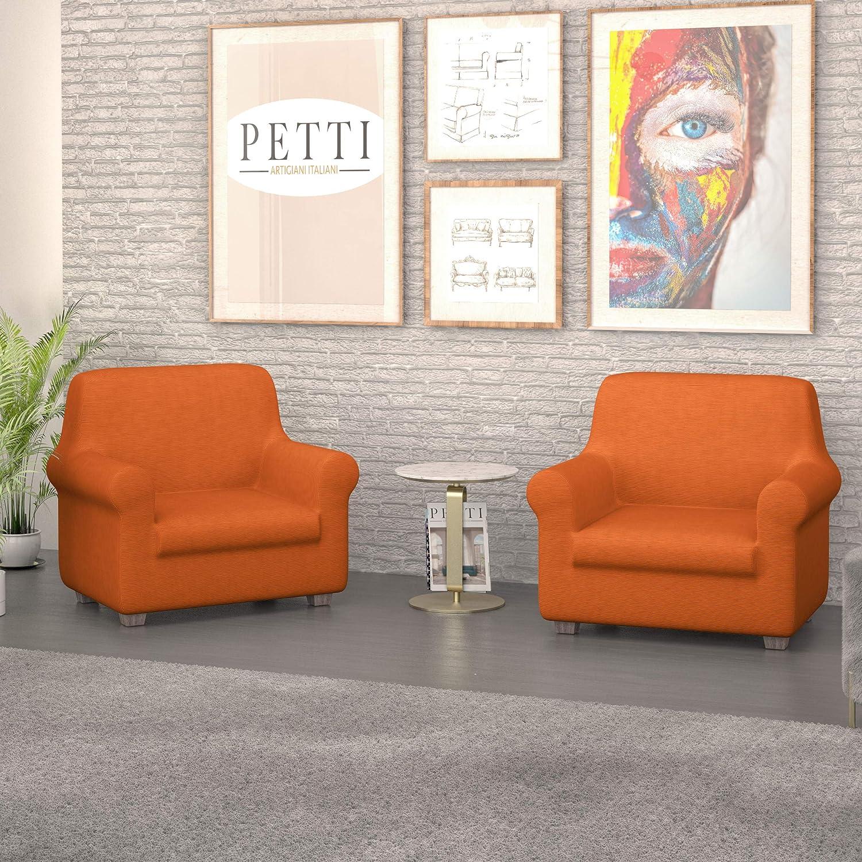 100/% Poliestere HxB 245x60 cm Gardinenbox 2er Set Schiebegardinen Tenda a Pannello Completa con Binario di Scorrimento Colore: Arancione