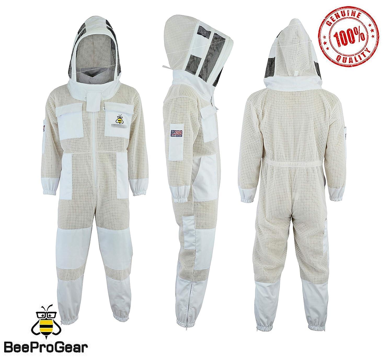 Bee Suit Fencing Veil SFV Scelta Professionale 3 Strati Protezione da Ventilazione Ultra ventilata Tessuto Unisex Bianco in Tessuto per lapicoltura in Rete Vestito da Apicoltore Vestito da Scherma