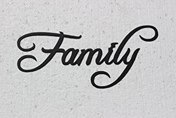 Charmant Family Word Home Decor Metal Wall Art