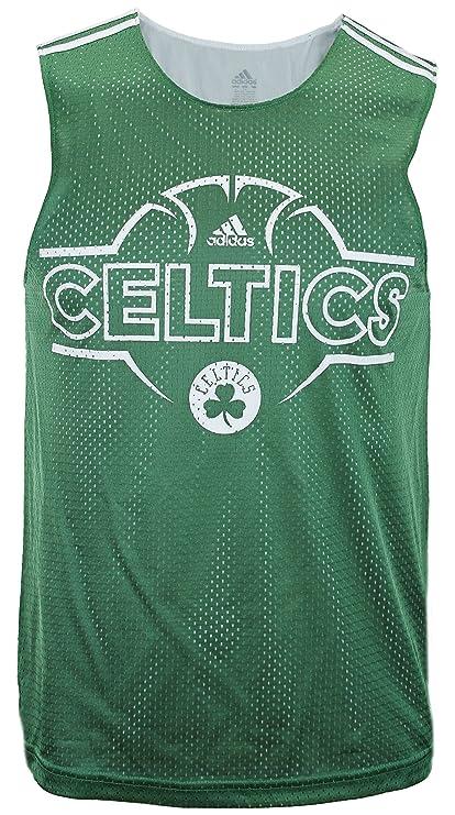 0113f52d9441 adidas Boston Celtics NBA Men s Overtime Hustle Hoops Tank - Green (Small)