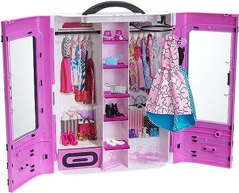 Guardaroba Di Barbie.Barbie Fashionistas Ultimate Armadio Viola Amazon It