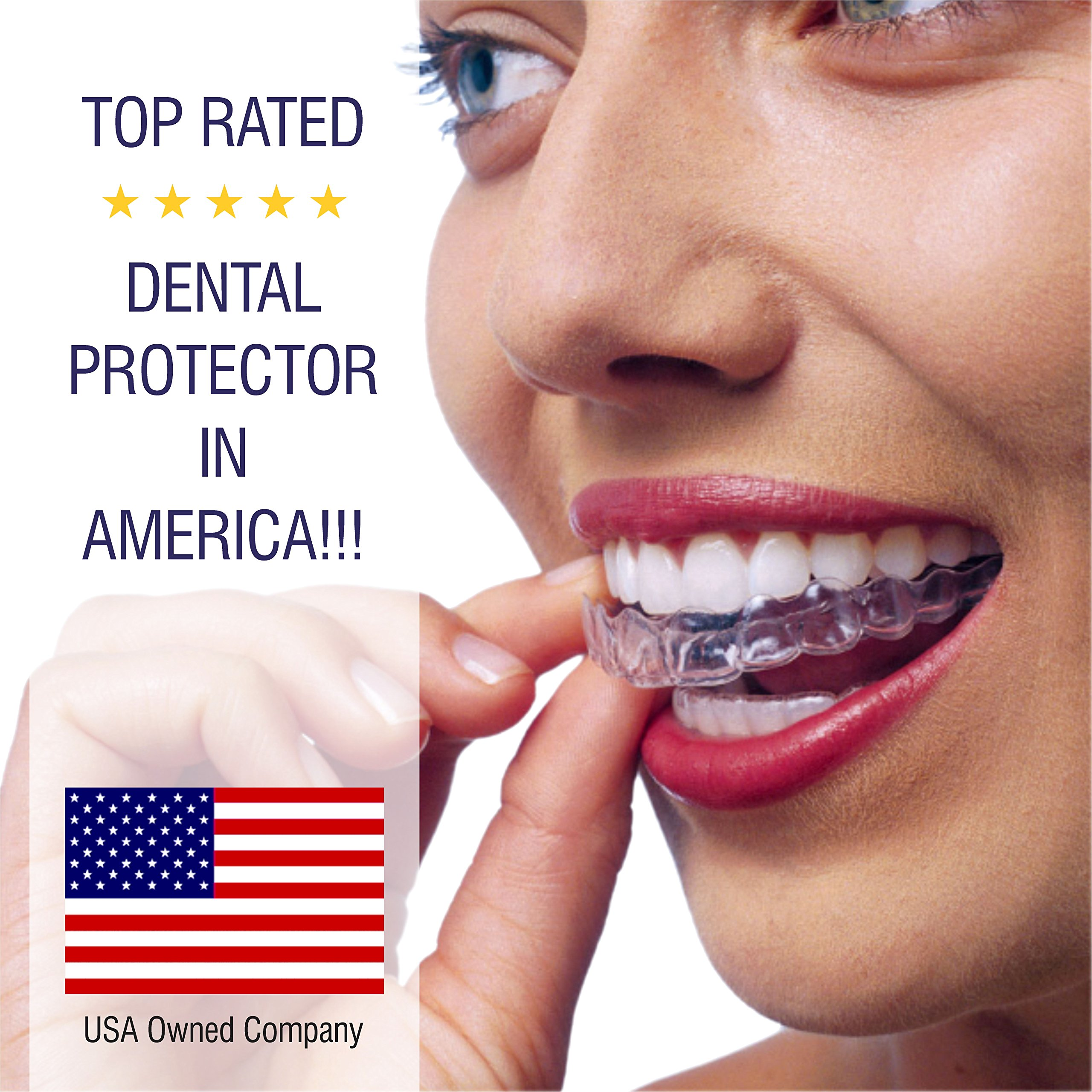 Professional Dental Guard -Pack Of 4- Stops Teeth Grinding, Bruxism, Eliminates Teeth Clenching Includes Fitting Instructions & Anti-Bacterial Case. Satisfaction Is Guaranteed! by Dental Duty (Image #8)