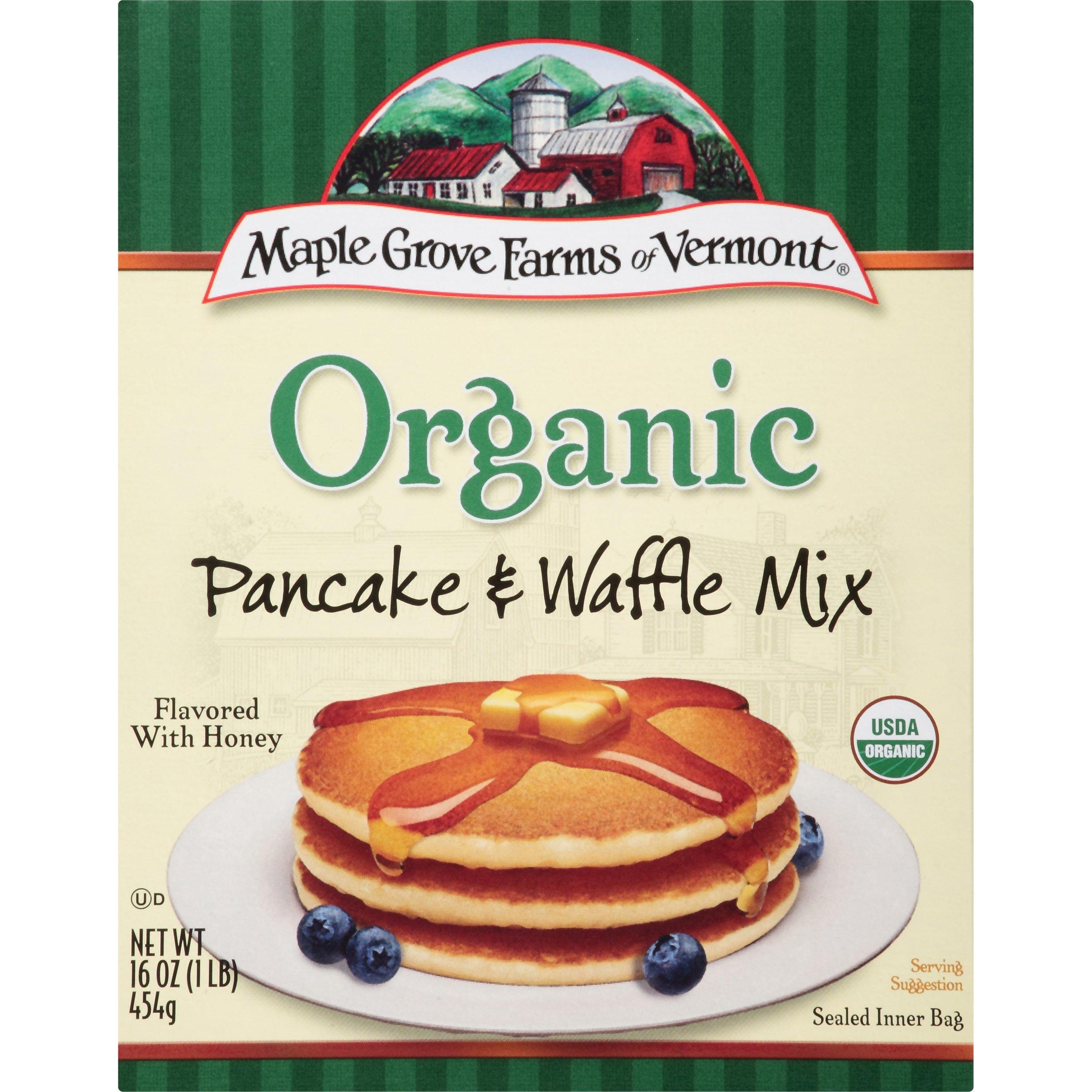 Maple Grove Farms Pancake & Waffle Mix, Organic, 16 Ounce Pack of 8