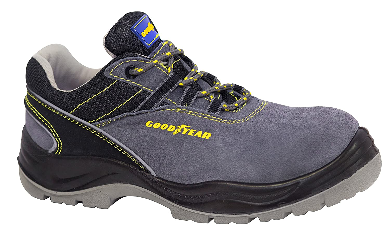Goodyear G138107C Calzado en Piel Serraje, Gris, 42, Set de 2 Piezas