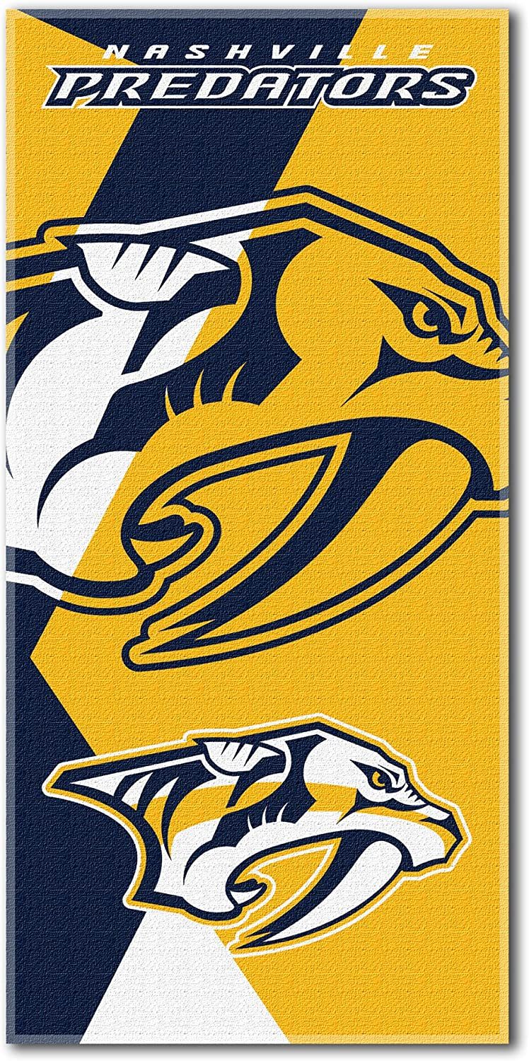 Multi Color 34 x 72 Officially Licensed NHL Puzzle Beach Towel