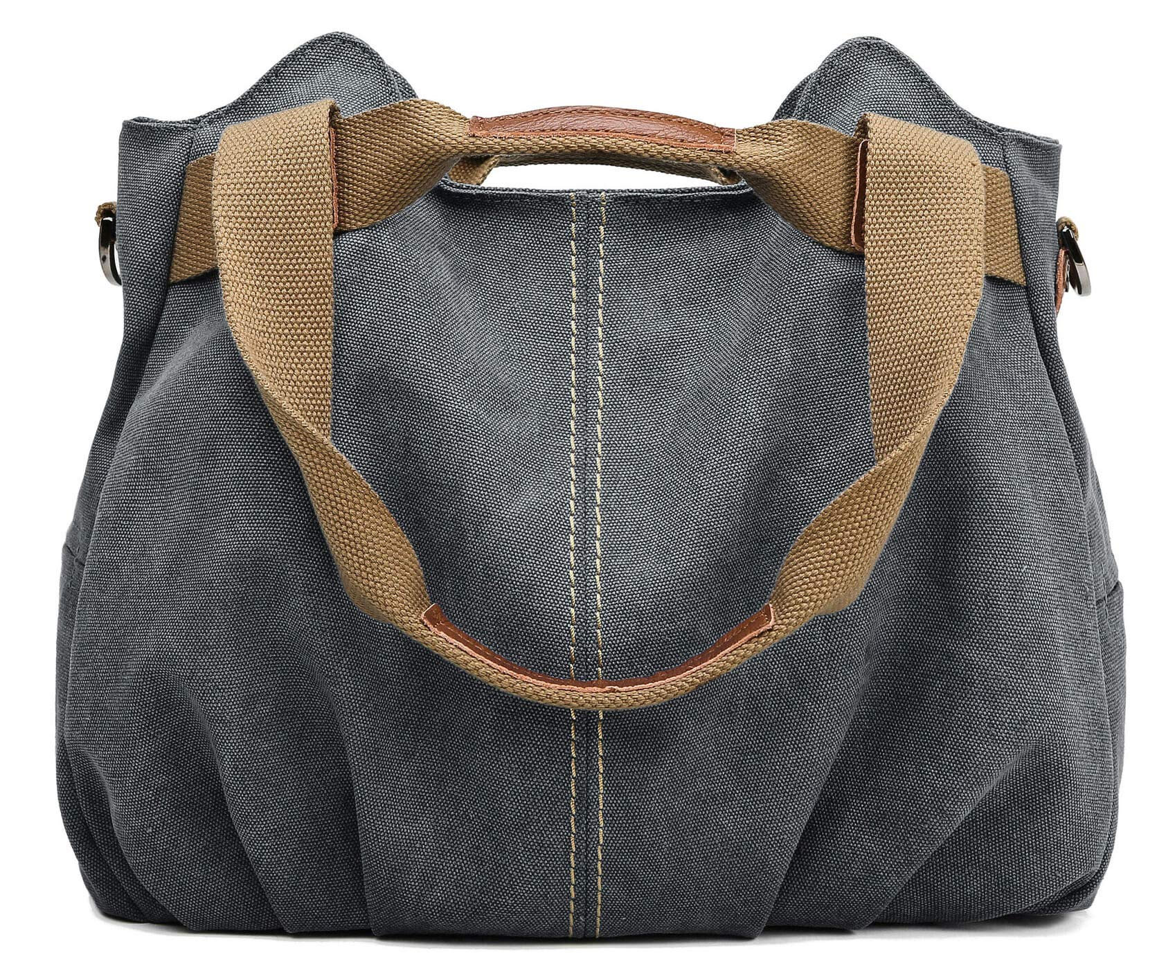 Z-joyee Women's Ladies Casual Vintage Hobo Canvas Daily Purse Top Handle Shoulder Tote Shopper Handbag Satchel Bag by Z-joyee