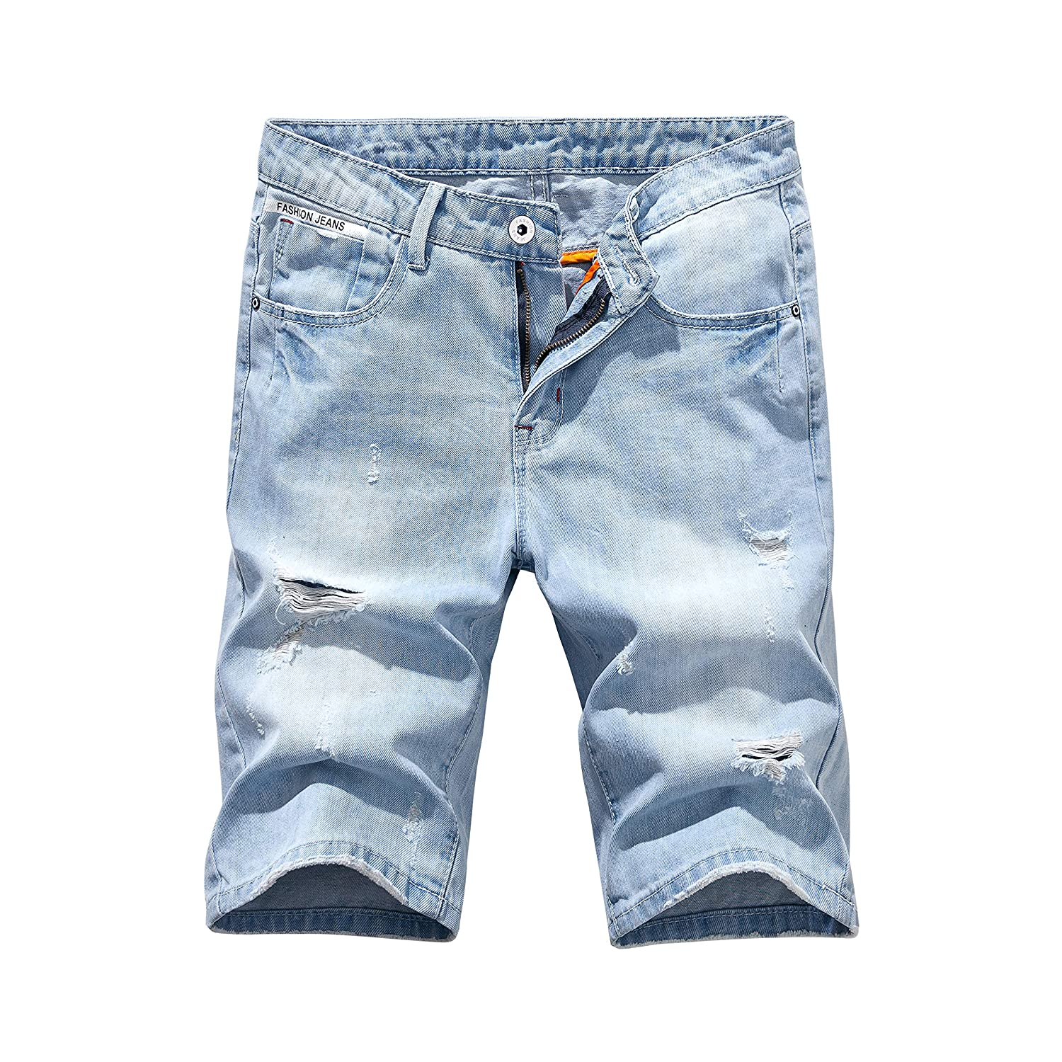 Heart Yuxuan Men's Fashion Slim Casual Denim Short