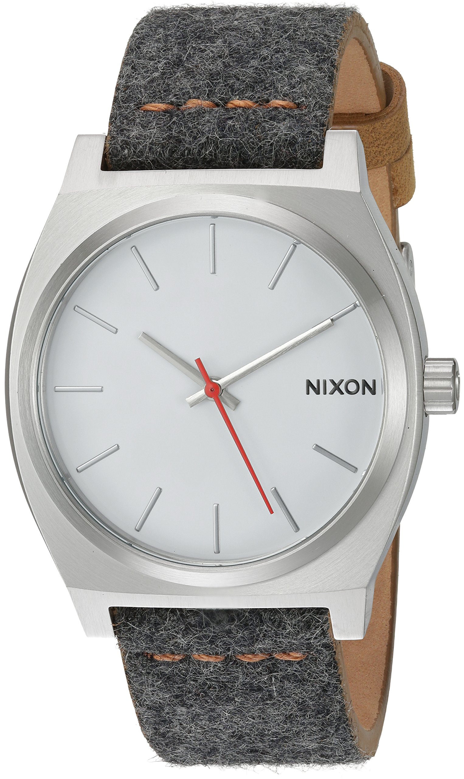 Nixon Women's 'Time Teller' Quartz Metal and Cloth Watch, Color Grey (Model: A0452476-00)