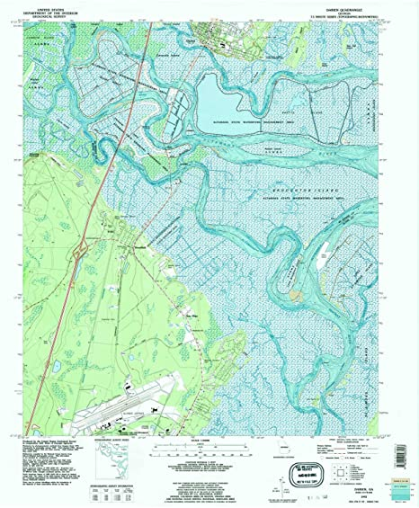 Amazon.com : YellowMaps Darien GA topo map, 1:24000 Scale, 7.5 X 7.5 on