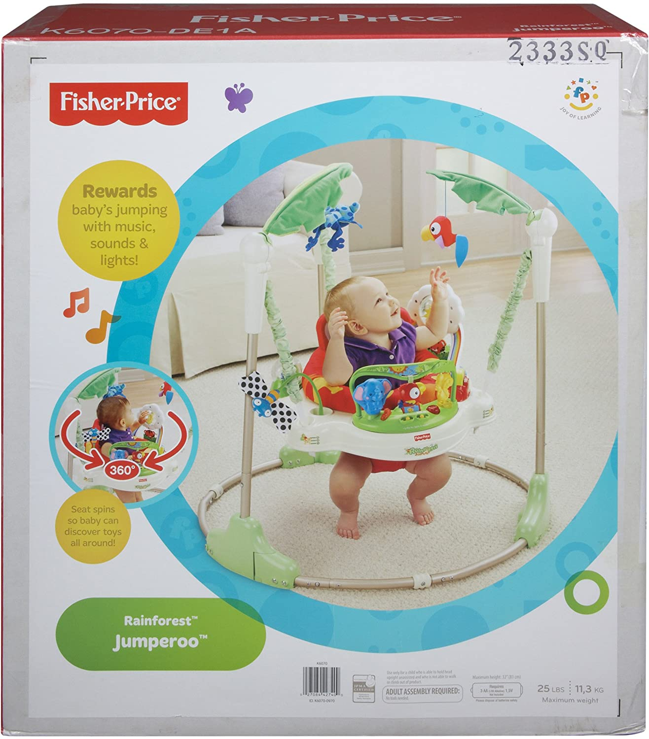 Amazon Fisher Price Rainforest Jumperoo Infant Bouncers
