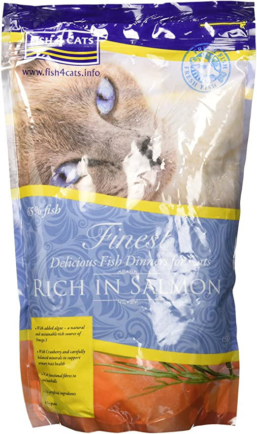 Fish4cats pienso para gatos Salmon: Amazon.es: Productos ...