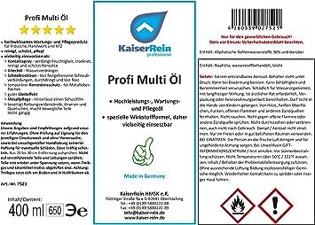 Kaiserrein Profi Multi Öl Allzweck öl Multi Spray Schmieröl Haushalts öl Beseitigt Quietschen Schmiert Fettet Türen Schränke Schließzylinder Usw Auto