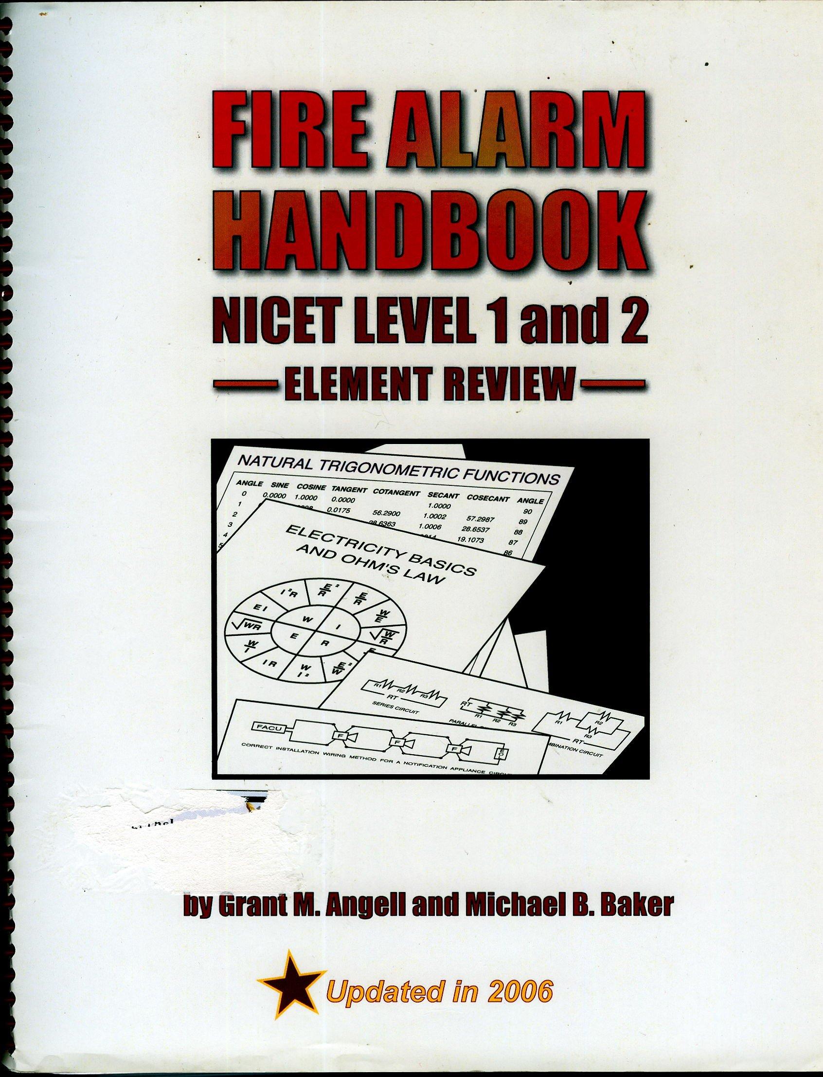 Fire Alarm Handbook Nicet Level 1 2 Grant M Angell Michael B