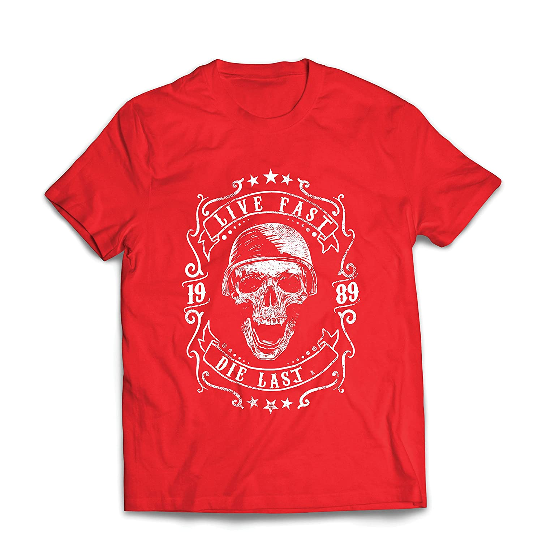 lepni.me Maglietta da uomo vivi veloce - muori l'ultimo - citazioni in bici, abbigliamento moto, amore da guidare, ottimo regalo per motociclista VACOM ADVARTAIZING Ltd