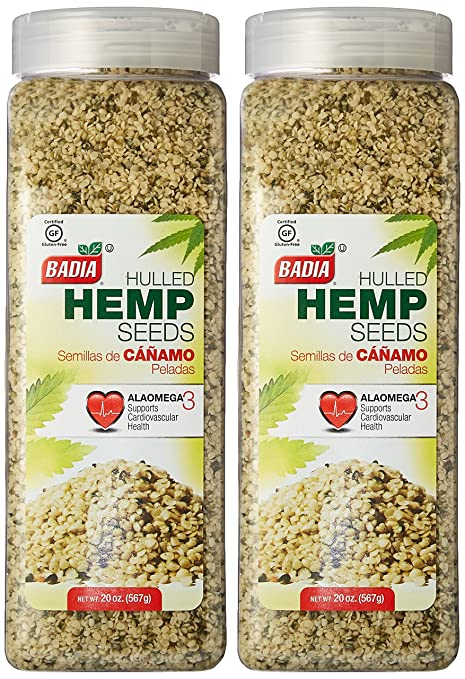 Amazon.com : Badia Hulled Hemp Seeds 20 oz Pack of 2 : Grocery & Gourmet Food