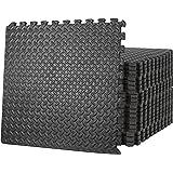 ZENY Gym Flooring Mat Interlocking Foam Mat 24 Floor Tiles 3/4'' Extra Thick Floor Mats for Exercise Equipment Baby Play Mat