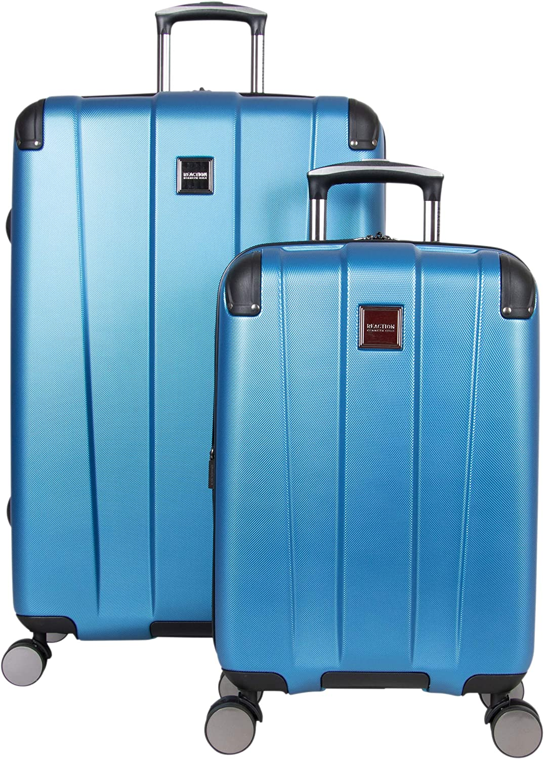 Kenneth Cole Reaction Continuum 2-Piece 20 Carry-On 28 Check Size Lightweight Hardside Expandable 8-Wheel Spinner Travel Luggage Set, Vivid Blue
