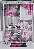 Rideau de douche Chic & zen Rose Premium